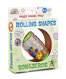 Rolling Shapes Bead Rattle Playtime just got a little more exciting with this colorful rattle that can be held with both hands.