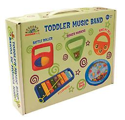 Toddler Music Band This five-piece band set will get all the little ones involved in the magic of making music. Set