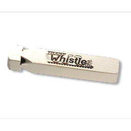 Wooden Train Whistle This train whistle is a favorite of both kids and grown-ups. Blow into the four chambered whistle, recreating a steam locomotive's call.
