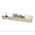 Wooden Train Whistle - This train whistle is a favorite of both kids and grown-ups. Blow into the four chambered whistle, recreating a steam locomotive's call.