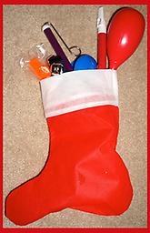 Musical Toy filled Christmas Stocking This Christmas Stocking filled with musical toys is the perfect choice for your little rockstar!