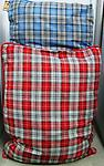 Dog Bed Pillow Reversible - Size 35x44. Comes in red plaid or blue plaid