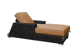 (4af) Santa Barbara Chaise with Arms and Wheels .
