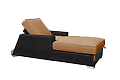 (4af) Santa Barbara Chaise with Arms and Wheels - .