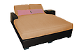 (4ag) Santa Barbara Double Chaise with Arms and Wheels - .