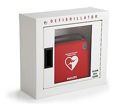 Basic Surface Mounted Cabinet Protect your AED from dirt, dust, and wet conditions with this heavy duty steel cabinet.