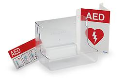 AED Wall Mount and Signage Make sure your AED is Visible and available for everyone with the wall mount and signage kit, Save Money by incorporating your heavy duty wall mount and all the necessary signage.