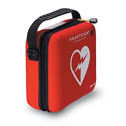 Philips Standard Carry Case In addition to the OnSite Defibrillator, the Standard Carry Case can accommodate one spare pads cartridge and a spare battery. It also comes equipped with a pair of paramedic scissors.