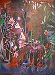 1776 - Abstract Acrylic symbolizing the Independence Day of America. Bombs Bursting everywhere. Freedom