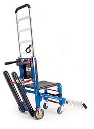 Ferno EZ-Glide® w/Track and ABS Panels The EZ Glide® Evacuation Stair Chair glides patient loads up to 500 lbs. down stairs without carrying or lifting.