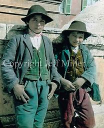 """9. Two young boys Rome: Taking pictures on the Spanish Steps, Brown came across something all tourists saw back in those days -- children who would ask to be photographed, simply for the joy of it or as """"models.&a"""