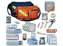 EMI Trauma Pac Trauma Pac kits offer the essential basic life support components for the first responder. Trauma Pac features EMIs fanny packs. These packs have three outside pockets for instruments. Low SHIPPING