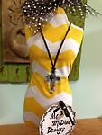 Murano Glass Cross Cord Necklace...Blue - Show off your style!