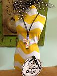 Murano Glass Cross Cord Necklace....White - Show off your style!!!