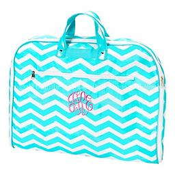 Aqua Chevron Garment Bag Travel in style! Available in aqua chevron, tutti frutti, grey floral