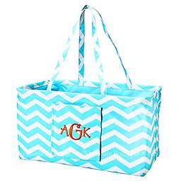 Aqua Chevron Ultimate Carry Travel in style! This works great for those trips to the warehouse stores, toys, trips, and more!