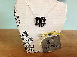 Acrylic Monogram Necklace MEDIUM Hot new acrylic monogram necklace! Choose color & style!