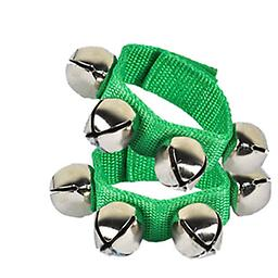 Wrist Bells Brightly colored bells are quality made in the U.S.A. Easily attached with Velcro sewn into the band allowing bells to be used on any size wrist or ankle