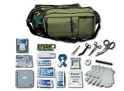 Battle Pac Battle Pac with its choice of EMIs olive drab or camouflage fanny pack is ideal for situations where basic military medical treatment is needed. With Battle Pac you are able to treat multiple traumas.