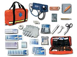 EMI Flat Pac Response Kit Being first on the scene your precious treatment time is limited! Flat Pacs unique design when completely opened lets it lie flat making visible to the rescuer all equipment and supplies.