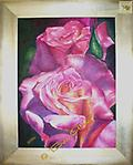 """PRINCESS DIANA ROSE - Acrylic 18"""" x 24"""" THIS BOLD INTERPRETATION OF THE GLORIOUS ROSE NAMED FOR THE PRINCESS DIANA RECALLS HER UNIQUE CHARM AND SENSUAL BEAUTY"""