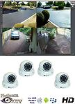 4 - 2.0 Megapixel HD IP Camera kit - 4 HD IP 2.0 megapixel Camera Kit - High definition cameras with 65' of infrared night vision,using sony image sensors . Includes camera,software, license, 4 port POE router, and 4 outdoor cameras.