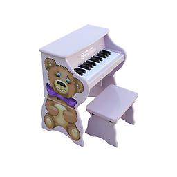 25 Key Toy Piano w/Bench - Teddy Bear This little piano is so versatile it grows with your child! The main unit, decorated with a adorable Teddy Bear is perfect for toddlers