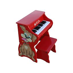 25 Key Toy Piano w/Bench - Dog This little piano is so versatile it grows with your child! The main unit, decorated with a little Puppy dog, is perfect for toddlers.