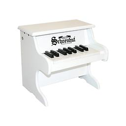 My First Piano - 18 Key White A small toy piano designed especially for the very young who have reached the exploratory stage ... from infancy, sitting on someone's lap in front of the keyboard, up to toddler age