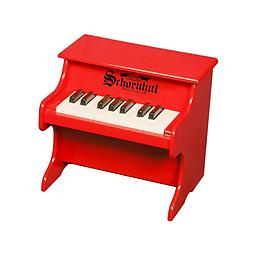 My First Piano - 18 Key Red A small toy piano designed especially for the very young who have reached the exploratory stage ... from infancy, sitting on someone's lap in front of the keyboard, up to toddler age