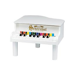 White 18 Key Mini Grand Piano Schoenhuts smallest piano is a perfect choice for introducing a very young child to the world of music.