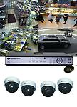 4-Camera Indoor Dome Security Camera Kit Standalone DVR System w/Internet Remote Viewing - Great 4 Camera Kit , Sony image sensors with adjustable 4-9 mm lens, stand alone recorder with internet remote viewing capable. Easy mounting , Free Ground Shipping / setup videos !