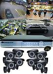 8 - 700 tvl Hi Res IR Camera kit with Realtime DVR - 700 tvl resolution 200 ft. of infrared night vision Cameras, Realtime 240 FPS Standalone DVR Recoder, with Internet Remote viewing. Includes central power supply.