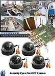 Super Saver 4 color indoor cameras / Security Eyes DVR PC Card - Entry level 4 camera system, includes 4 color dome indoor cameras, Security Eyes PC DVR Card , and software.