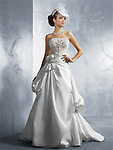 Alfred angelo 2163 - alfred angelo wedding gown style 2163SLF strapless A-Line silhouette taffeta floor length