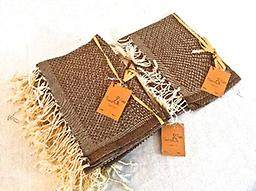 Large Scents & Feel Fouta Towel - Brown 100% Cotton , Can double as a tablecloth, shawl, beach towel etc. New product trend