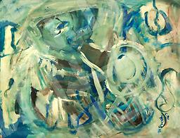 Bee Bop (ORIGINAL SOLD)- prints only Abstract, Acrylic Paint on Paper, 25x19-prints only 11x14, $40