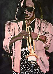 Miles Davis Large (Prints) Acrylic on Paper, print