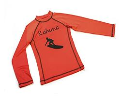 Ducksday Summer Rashguard - Kahuna Short-Sleeved Available in long or short (3/4) sleeves, Ducksday rashguards are soft, suitable for salt or chlorinated water, and provide protection from harmful UV rays.