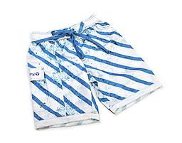 Ducksday Summer Boardshorts - Blue Stripe Ducksday Quick-Dry Boardshorts are made with Feran Ice-Finish fabric, which absorbs and wicks moisture for a cooling effect. These shorts and super-lightweight, quick-drying, and packable!