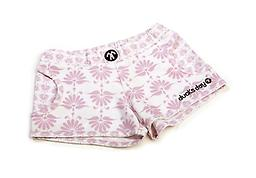 Ducksday Summer Pink Print Boardshorts Ducksday Quick-Dry Boardshorts are made with Feran Ice-Finish fabric, which absorbs and wicks moisture for a cooling effect. These shorts and super-lightweight, quick-drying, and packable!