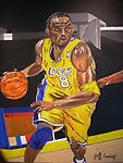 Kobe Bryant LA Kingz - Original Acrylic painting of Kobe Bryant on the Lakers floor, very vivid colors a definite perfect piece for any Lakers fan. Stunning detail and graceful brushtrokes.