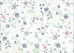 """B6- DAWN MEADOW (F0231) Deluxe Flannel Back Vinyl Tablecloth. Order by the roll which is 54"""" wide x 15 yards long. The material is reusable and durable for both indoor and outdoor use"""